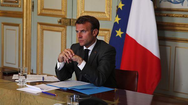 الرئيس الفرنسي إيمانويل ماكرون في قصر الإليزيه