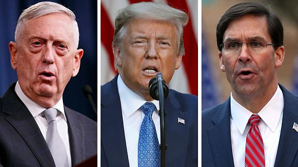 وزیر فعلی و وزیر سابق دفاع آمریکا مقابل ترامپ