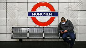 A commuter on London's Underground