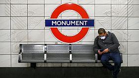 A commuter on London's Underground