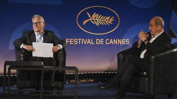 Pierre Lescure, a Cannes-i Nemzetközi Filmfesztivál elnöke és Thierry Fremaux, a fesztivál művészeti igazgatója