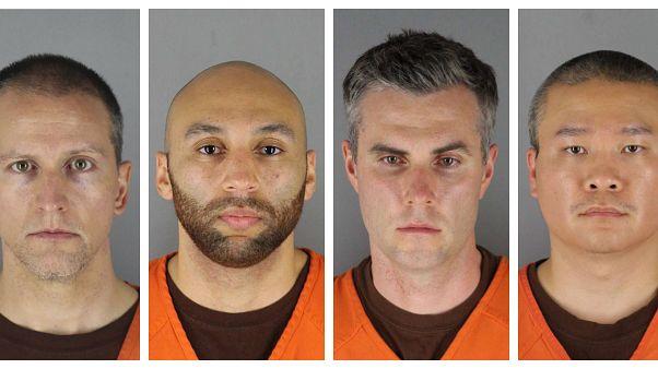 صور لعناصر الشرطة الأربعة المتهمين في مقتل فلويد