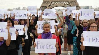 Rassemblement contre les violences faites aux femmes, Paris le 1 septembre 2019