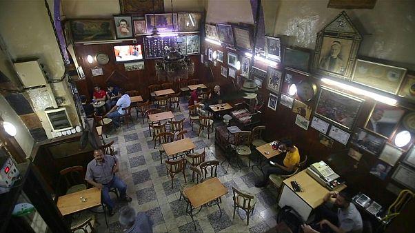 مقهى النوفرة في مدينة دمشق القديمة