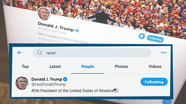 نتیجه جستجوی کلمه نژادپرست در بخش کاربران توئیتر