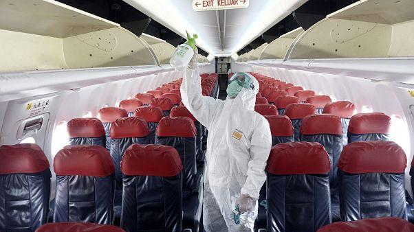 Repülőgép fertőtlenítése