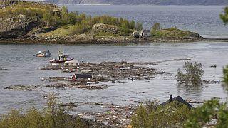 Norvège : maisons emportées par une coulée de boue, le 03/06/2020
