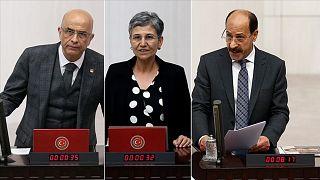CHP'den Enis Berberoğlu, HDP'den Leyla Güven ve Musa Farisoğulları