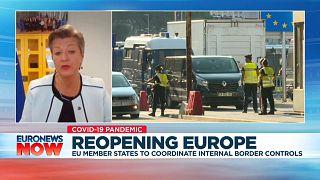 European Commissioner for Home Affairs Ylva Johansson speaking to Euronews, Thursday, June 4, 2020