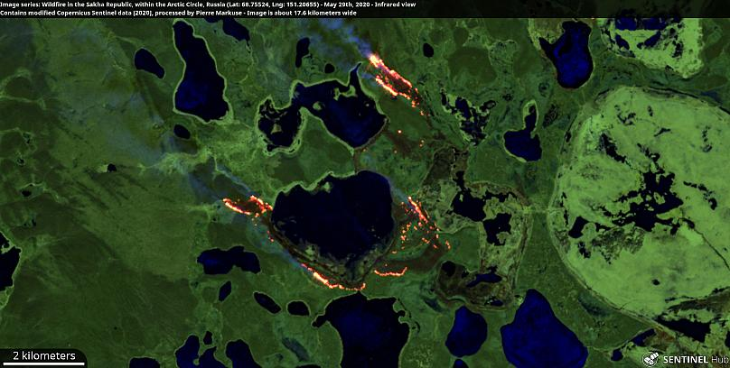 Contiene datos modificados de Copernicus Sentinel 2020 procesados por Pierre Markuse