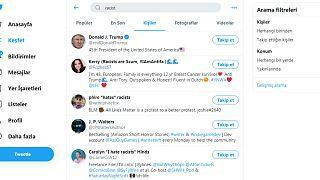 """Twitter'da """"racist"""" (ırkçı) araması sonuçları"""