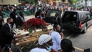 مراسم ختم جرج فلوید در مینیاپولیس