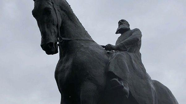 Estatua de Leopoldo II en Bruselas, Bélgica