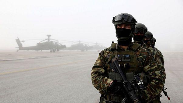 رزمایش نیروهای آمریکایی در یونان