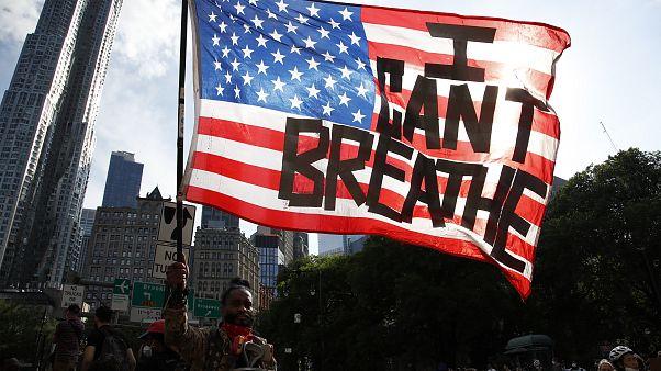 Demonstráció New Yorkban.