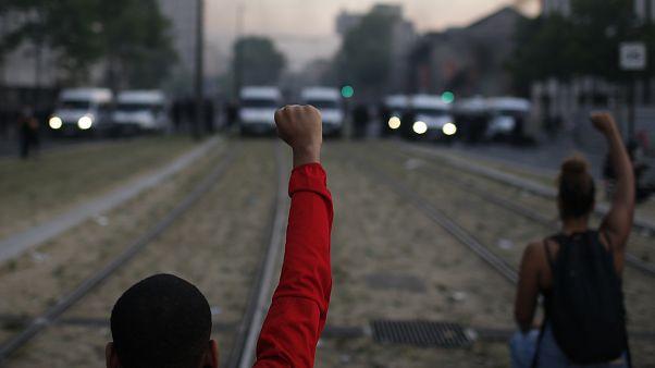 تظاهرات ضدنژادپرستی نیروهای پلیس در پاریس