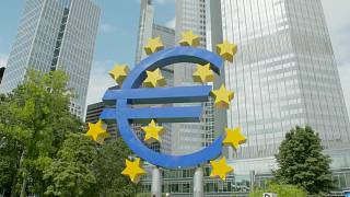 The European Central Bank in Frankfurt, in charge of monetary policy for the 19 countries using the euro.