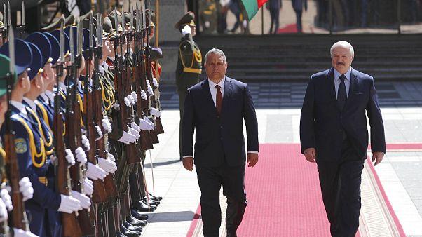 Orbán Viktor és Aljakszandr Lukasenka Minszkben