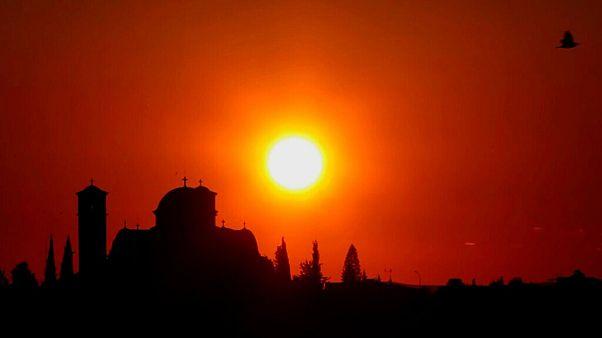 غروب آفتاب در قبرس