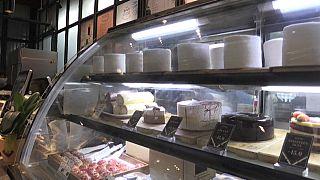 Présentoir d'une pâtisserie de Kuala Lumpur, en Malaisie