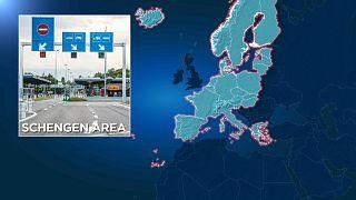 Mapa del espacio Schengen