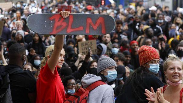 إحدى المظاهرات التي نظمتها حركة بلاك لايف ماترز في أوروبا