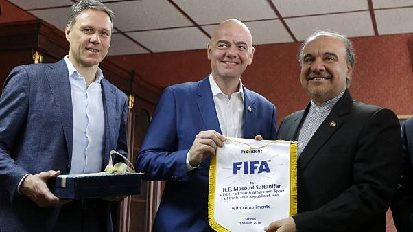 دیدار رئیس فیفا با وزیر ورزش ایران