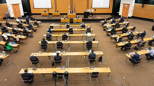 Ολομέλεια της Βουλής των Αντιπροσώπων στο Συνεδριακό Κέντρο Φιλοξενία.