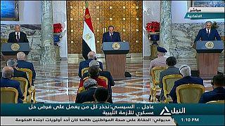 al-Sisi durante la conferenza stampa