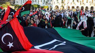 ليبيون في العاصمة طرابلس