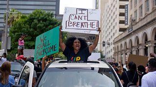 محتجون في الولايات المتحدة ضد عنف الشرطة
