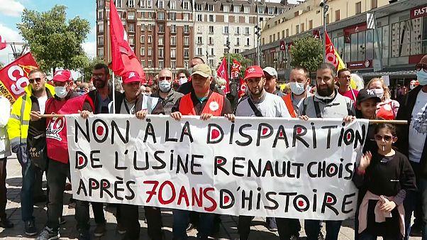 Διαδήλωση στην Γαλλία για την Renault