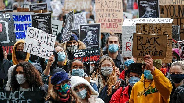 تظاهرات مخالفان نژادپرستی در لندن