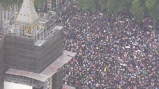Massive protest in London against the murder of George Floyd