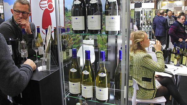 Fransa'nın Burgundy bölgesinde bir şarap fuarı.