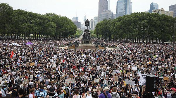 Manifestation à Philadelphie, le 06/06/2020