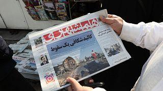 صحيفة إيرانية نشرت خبر تحطم الطائرة