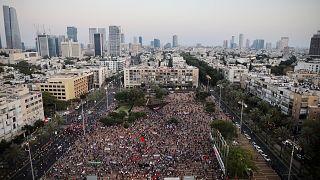 İsrail'de Batı Şeria protestosu