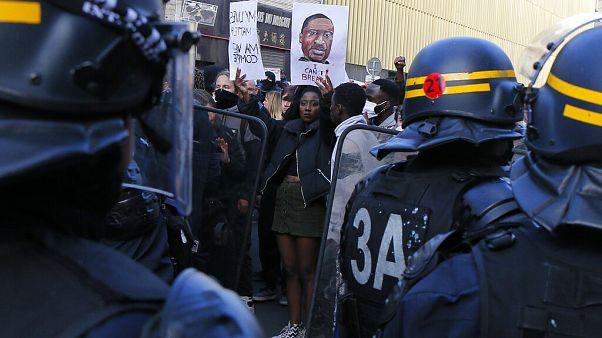 Protest gegen Rassismus in Frankreich