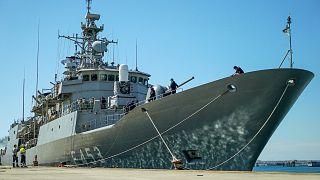 La fregata greca dell'Operazione Irini