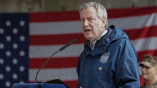 رئيس بلدية نيويورك بيل دي بلازيو