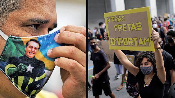 Manifestaciones en Brasil pro y anti Bolsonaro