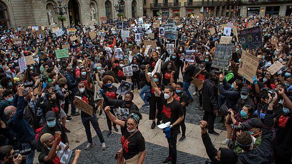 مظاهرات في مدريد