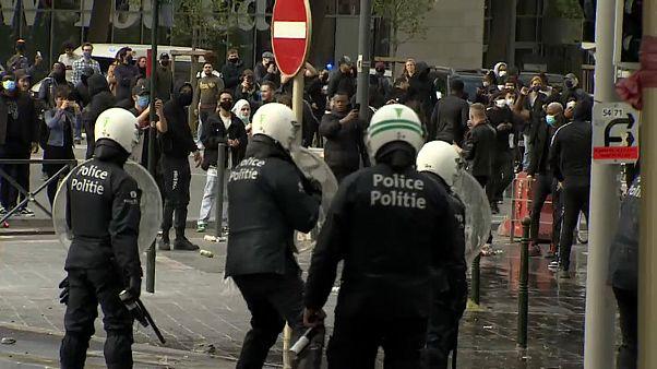 Manifestación antiracial en Bruselas
