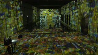 Arte imersiva numa base submarina em Bordéus