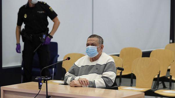 El excoronel salvadoreño, Inocente Orlando Montano, en la Audiencia Nacional española