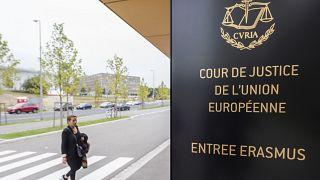 مدخل محكمة العدل الأوروبية في لوكسمبورغ