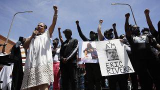 مظاطرة احتجاجية ضد مقتل جورج فلويد في لوس أنجلوس - 2020/06/08