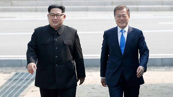 دیدار رهبر کره شمالی و رئیس جمهوری کرهجنوبی در سال ۲۰۱۸