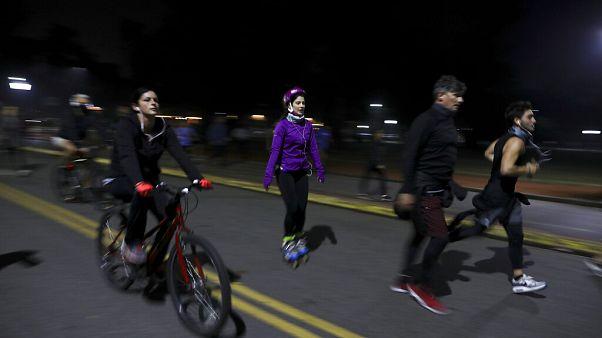 Deportistas disfrutan en Buenos Aires de la autorización para hacer deporte al aire libre